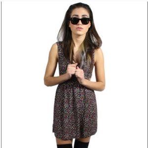 UO Coincidence & Chance Cutout Confetti Mini Dress